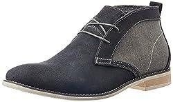 Steve Madden Mens Saxxen Grey Suede Boots - 9 UK