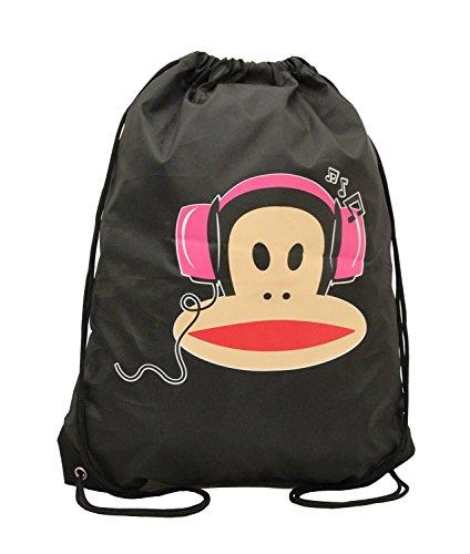 Paul Frank ,  Herren Kinder Damen Unisex-Erwachsene Unisex Kinder Schulrucksack Red-Drawstring-Bag