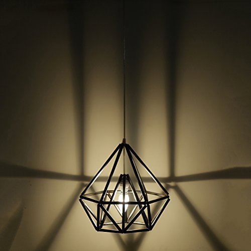 Diamond Shape Antique Black Modern and Decorative Hanging Lamp