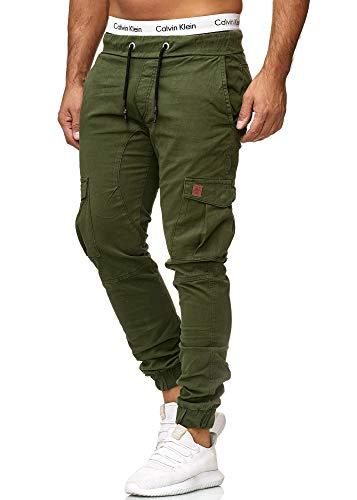 OneRedox Herren Chino Pants | Jeans | Skinny Fit | Modell 3301 Oliv 30 Skinny Denim Jean Pants