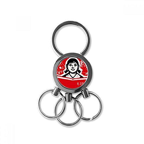 DIYthinker Mädchen-Buch Red chinesische Revolution Edelstahl-Metall Schlüsselanhänger Ring-Auto Keychain Keyring Clip Geschenk