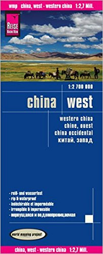 Reise Know-How Landkarte China, West  (1:2.700.000): world mapping project