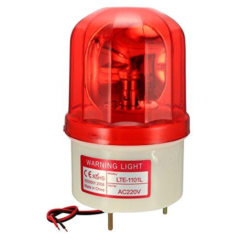 sourcing map Bombilla de luz de advertencia tipo LED de alarma señal intermitente giratoria Lámpara Torre AC 220V Red LTE1101L