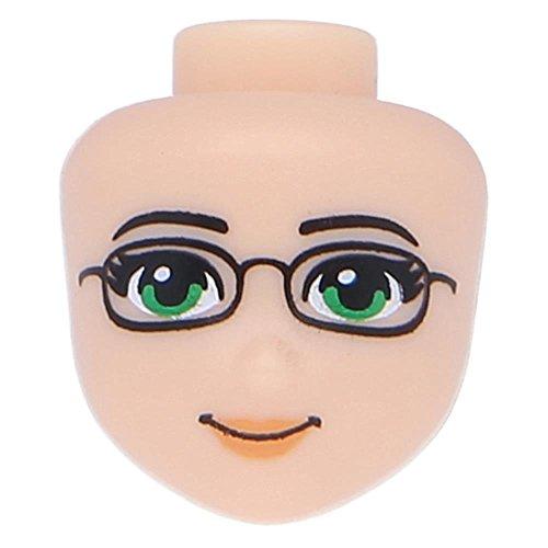 Modifiziert Friends mit grünen Augen und hautfarben (Lego Friends Köpfe)