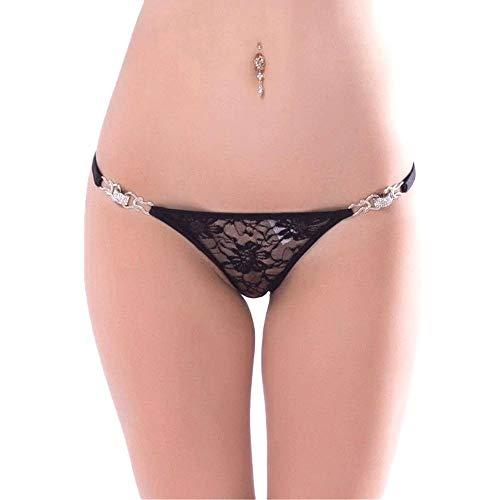 Damen Schwarz Sensualle Poderosa exotischen Kleid G-Strings Thong panty