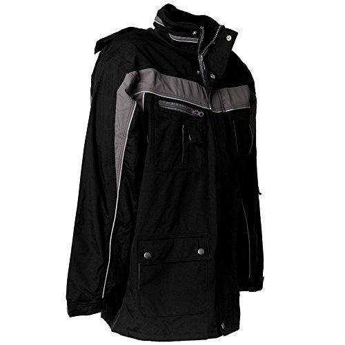 Plaline Arbeitskleidung Allwetterjacke rot/schiefer schwarz/zink