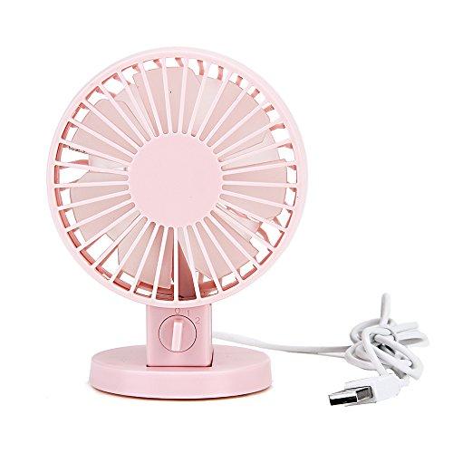 Agapo Ventilador USB/ventilador de mesa/ventilador 2 velocidades Para Hogar y Oficina,Cochecito de Bebe,Auto,Interior y Exterior,Camping Rose