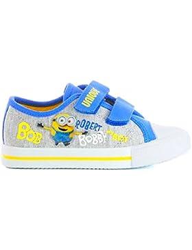 Minions Kinder Sneaker, mit Klettverschluss, grau/blau, Gr. 24-32