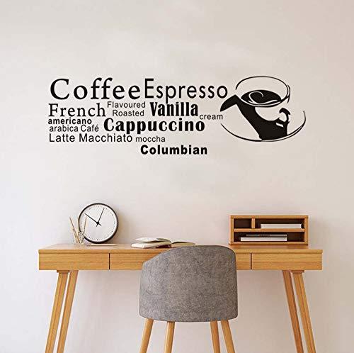 Wandaufkleber abnehmbare küche dekoration kreative kaffee espresso brief café dekoration 59 cm * 43 cm - Espresso-esszimmer