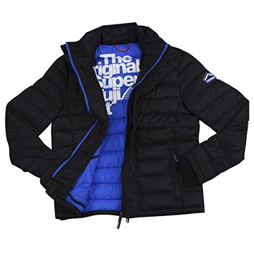Superdry Herren Fuji Triple Zip Jacke, gesteppt, Herren, schwarz (Triple-zip-tasche)