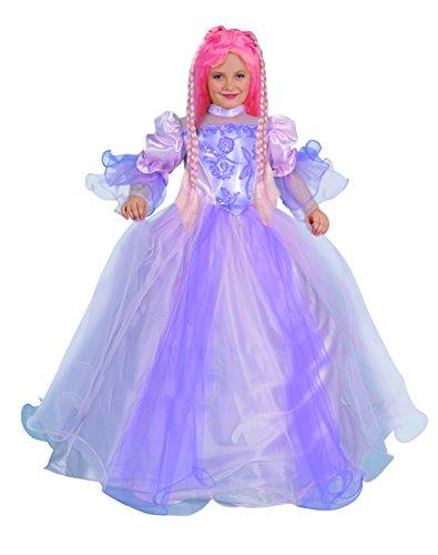 Turm Kostüm Prinzessin Perücke - Blumen Paolo 26323-Turm Prinzessin Kostüm Mädchen, 7-9Jahre mit Perücke, Violett