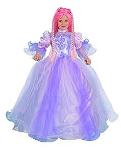 FIORI PAOLO 26323-Princesa la torre disfraz niña, 3-4años con peluca, morado