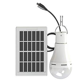 Sigarear Solar Glühbirne,Solarleuchten Lampe,LED Solarlampen,tragbare Lämpchen Licht Birne für außen, Innen, Garten, Camping,Angeln(250LM 60W 5 Modi)