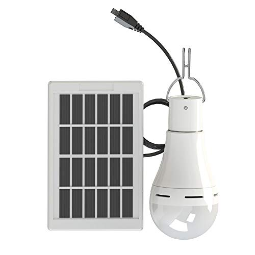 Solar LED Glühbirne Solarlampe - XINYANSEE Solarleuchten tragbarer Laternen strahler Solarlicht mit Solar Panel Beleuchtung für Camping, Wandern, Angeln, Gartenhaus