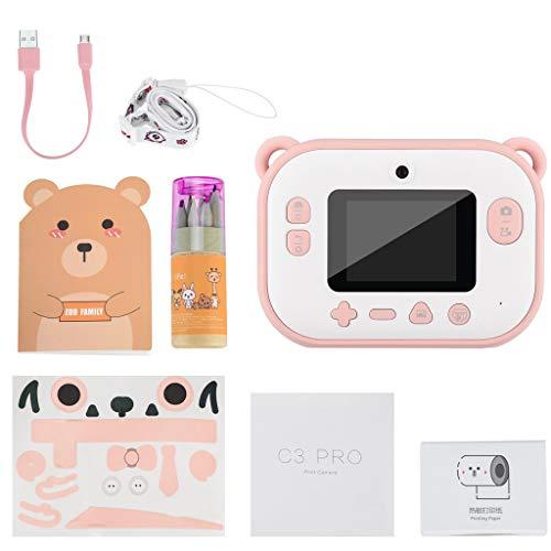 Sofortbildkamera, Mini Kamera für Kinder, Sofortdruck Digitalkamera mit 2,4 Zoll IPS Bildschirm 8MP Selfie Kamera Geburtstag Kreatives Spielzeug Geschenk für Jungen Mädchen