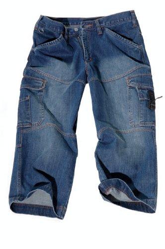 5/6 Jeans - kurze Arbeitshose 1497 Blau