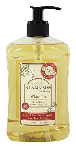 A La Maison Savon liquide français - Senteur de thé blanc - 500 ml