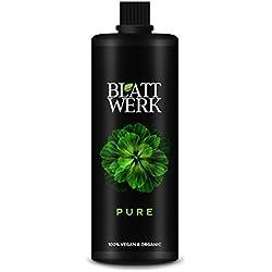 BLATTWERK Pure Bio Düngemittel 1 Liter: 100% veganer und organischer NPK Dünger mit Aminosäuren. Flüssiger Naturdünger aus Gras.