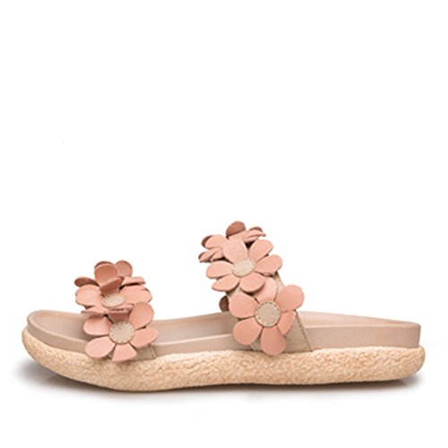 Sandali spessi di usura di moda estate/Sandali di fiori di parola in pelle B