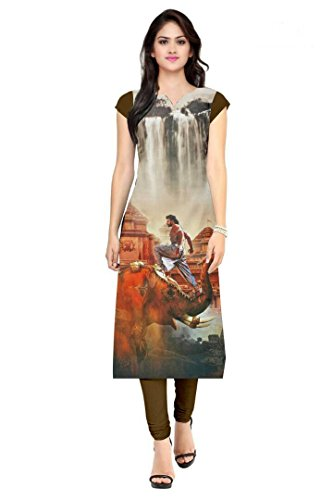 Kurti For Women Low Price On Latest Regular & Party Wear Semi_Stiched Kurti American Crape Fabric Digital Printed