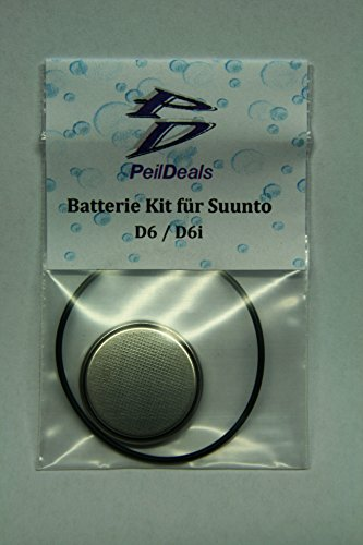 PeilDeals Batterie-Set/Kit für Tauchcomputer SUUNTO D6 / D6i