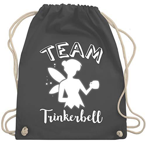Typisch Frauen - Team Trinkerbell Mädelsabend - Unisize - Dunkelgrau - WM110 - Turnbeutel & Gym - Drinkerbell Kostüm