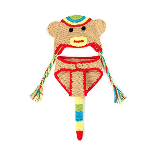 tfits, Baby Kostüm, Neugeborene Baby Kostüm Tier Affe 0-3 Monate (Neugeborene Affen Kostüme)