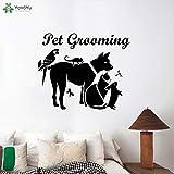 jiushizq Wandtattoo Fashion Animal Pet Grooming Aufkleber