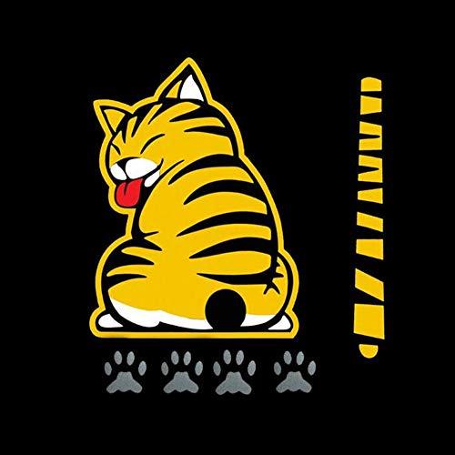 Etiqueta engomada del cuerpo del automóvil divertido Cola de gato divertida Limpiaparabrisas trasero Limpiaparabrisas Carro lateral autoadhesivo Calcomanías de gráficos de vinilo Calcomanía móvil ,A