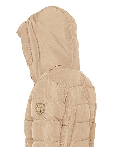 ONLY Damen Mantel Onldana Nylon Coat Otw Beige (Simply Taupe Detail:Melange)