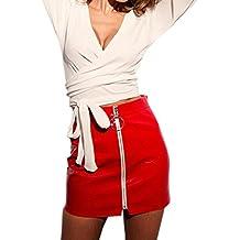 design di qualità a1908 08ea0 gonna rossa pelle donna - Amazon.it