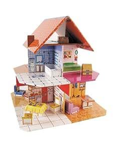 zamiloo puppenhaus inkl einrichtung platzsparend zu verstauen spielzeug. Black Bedroom Furniture Sets. Home Design Ideas