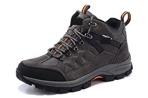 Mens Wanderstiefel Wasserdichte Schuhe Kletterschuhe Non Slip Breathable Outdoor-Schuhe Schnürschuhe alle Saison,A,40EU