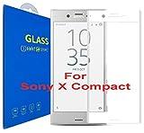 Sony Xperia X Compact - 3D Incurvé Verre Trempé - Transparent 3D Film Protection en Verre trempé écran Protecteur Vitre - Ultra Résistant Dureté 9H 0.26mm Glass Screen Protector pour Sony Xperia X Compact (Blanc)