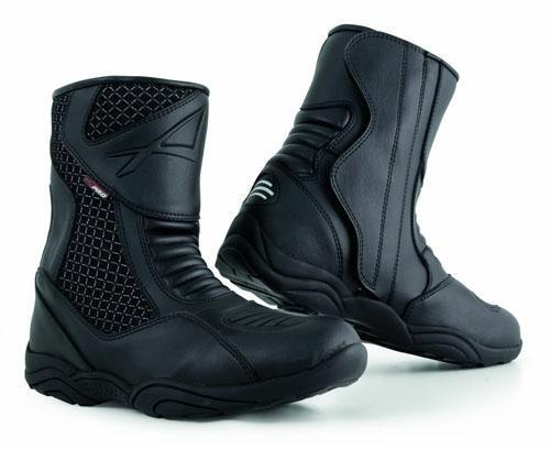 Stivaletto Moto Basso Impermeabile Stivali Touring Calzature Turismo Nero 42
