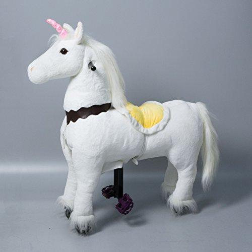 UFREE-Horse-UFREE-HORSE-35-fahrendes-Schaukelpferd-Kuscheltier-Pony-auf-Rollen-Geburtstagsgeschenk-fr-Kinder-3-5rosa-Einhorn