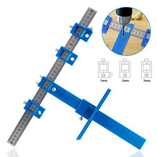 Localizador de punzones Abrazadera de riel de perforación Broca Perforadora Localizador de cajón Abrazadera de guía Accesorio para gabinete Herramientas y accesorios de carpintería