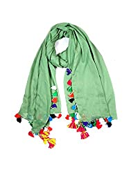 Anuze Fashions Plain Viscose Stole With Tassel For Winters