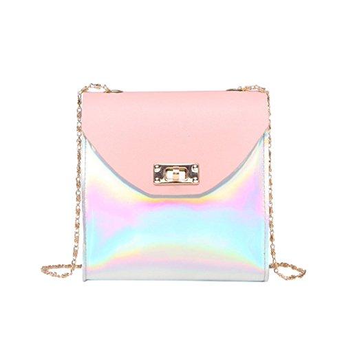 VENMO Frauen Schultertasche Bag Rucksack Umhängetasche Brusttasche Messenger Bag Hiking Bag Daypack Crossbody Bag Schultertasche Umhängetasche Schultertasche Handytasche Münztüte (Pink)