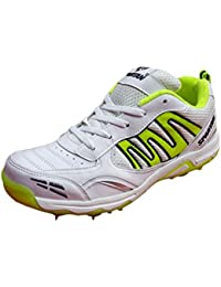 e0fed8a18fa686 SPARTAN Extreme 2018 White Green Cricket Spikes Shoes