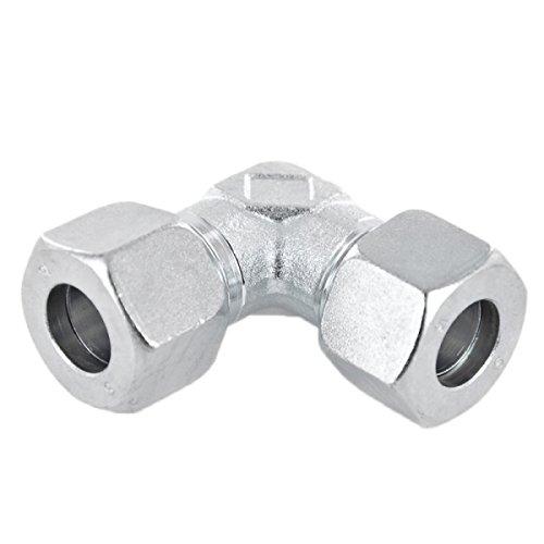 Winkel 90° Schneidringverschraubung Stahl verzinkt - W 10 L - für 10 mm Rohr -