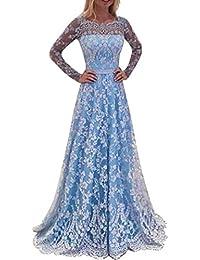 VICGREY ❤Vestito Donna Elegante❤Donna Vestito Lungo Abito Da Cerimonia  Elegante Vestiti Da Matrimonio Lunghi Formale Banchetto Sera Maxi… 8d443f689f7