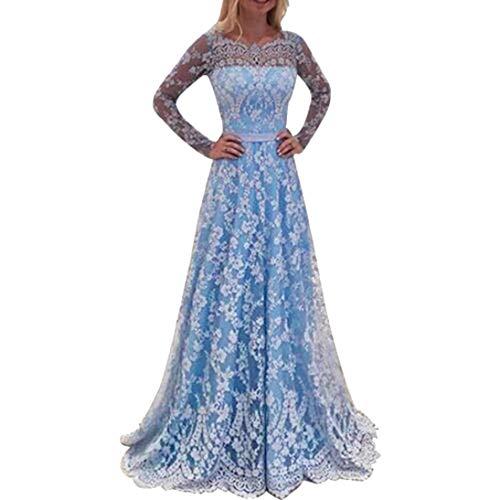 0569b72f3de2 VICGREY Vestito Donna EleganteDonna Vestito Lungo Abito Da Cerimonia  Elegante Vestiti Da Matrimonio Lunghi Formale Banchetto
