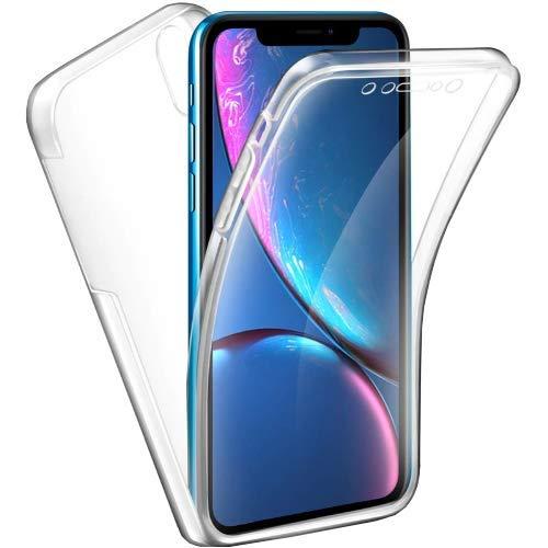CK-Shop Transparente Handy Schutzhülle kompatibel mit iPhone XR für Vorder- und Rückseite, Ultra...