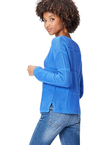 find. Pull Rayé en Tricot Femme, Bleu (Dazzling Blue), 42 (Taille Fabricant: Large)