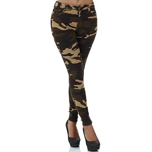 malucas Damen Jeans High Waist Hose Röhrenjeans Skinny Röhrenhose Slim Fit Stretch Mehrfarbig