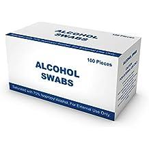 100 Paños de Limpieza de Piel Pre-Inyección - 70% alcohol isopropílico