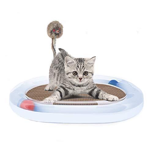 PETCUTE Katzespielzeug, das interaktives Katzenspielzeug des Spielzeugs mit Kugeln und Verkratzenbrett verkratzt