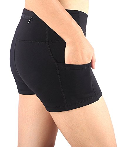 EAST HONG Women's Running Fitness Dancing Yoga Shorts Stretch Shorts with Pocket