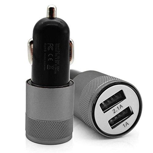 JENOR Port-Adapter Des Metalldoppel-USB-Auto-Ladegerät-2 Für Intelligenten Mobilen Handy-Tablet-PC